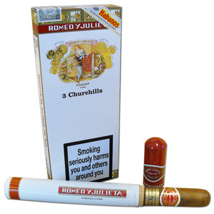 Romeo y Julieta Churchills Tubed Cigar - Pack of 3