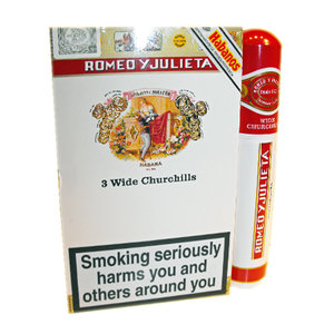 Romeo y Julieta Wide Churchill Cigar - Tubed - Pack of 3