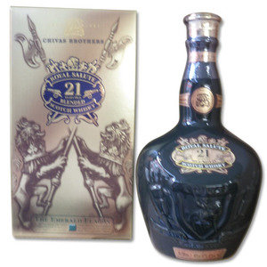 Royal Salute 21 Year Old Blended Scotch Whisky - Emerald Flagon 70cl 40%