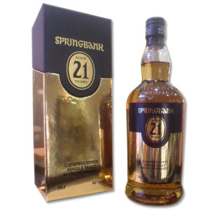 Springbank 21 Year Old Single Malt Scotch Whisky, 2013 Edition (70cl 46%)