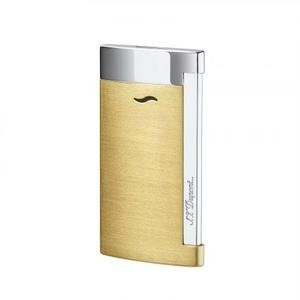 ST Dupont Slim 7 - Flat Flame Torch Lighter - Brushed Yellow Gold