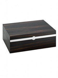 ST Dupont Humidor - Ebony Wood and Palladium - 75 Cigar Capacity