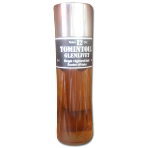 Tomintoul Glenlivet 12 Years Old Single Malt Scotch Whisky (Flask Style) 70cl 43%