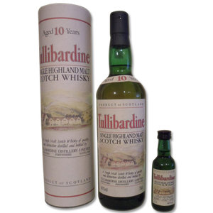 Tullibardine 10 Years Old Single Malt Scotch Whisky  (1990's) 70cl and 5cl