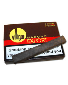 Villiger Export Pressed Cigar - MADURO - Pack of 5