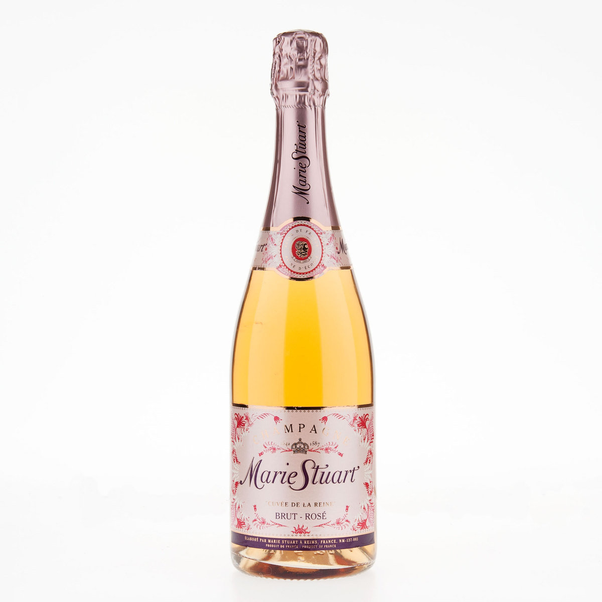 Marie stuart brut rose champagne marie stuart spirits for What is rose champagne
